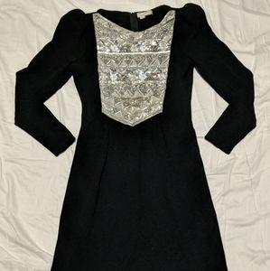 Pat Sandler Vintage Knit Beaded Dress